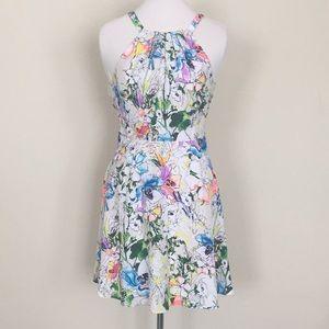 Express floral white dress 4